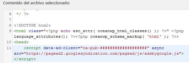 Como conectar mi sitio web a Google Adsense WordPress