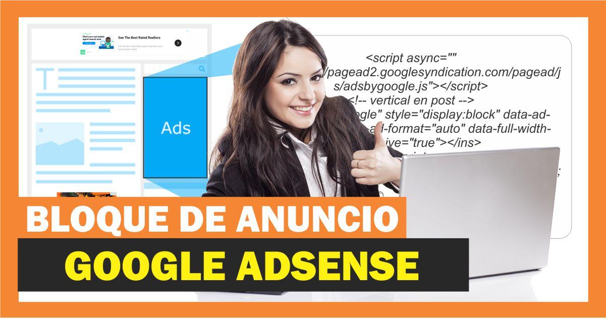 Crear un bloque de anuncios de adsense para mi sitio web
